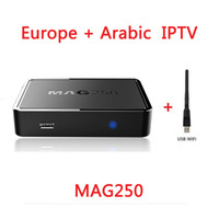 Wholesale Iptv Receiver Box Arabic Channels - Linux IPTV Box MAG250 More Than 2000+Stable Channels for Europe Arabic Afirican Support USB Wifi M3U Playlist Stalker Portal