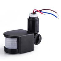 Wholesale Infrared Floodlight Security - Infrared Sensor PIR Infrared Motion Sensor Detector For Outdoor Security Lights Floodlights Sensor Pnp 12mm Infrared Temperature Sensor