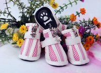 Wholesale Zipper Dog Boots - zipper dog shoes Waterproof Non-Slip pet shoes for Small dogs cats autumn and winter snow boots 4pcs lot
