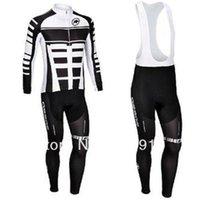 Wholesale Cycling Pants Assos - new items Professional Assos winter thermal cycling jerseys set Long Sleeve cycling jersey + Cycling Bib pants bike clothing winter