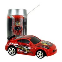 Create Toys Multicolor Coke Can Mini Speed ​​RC Radio Télécommande Micro Racing Car Toy Gift