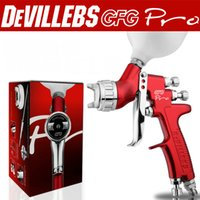 Wholesale Hvlp Spray - Wholesale and retail DEVILLEBS GFG Pro professional sprFREE SHIPPING professional spray gun red HVLP caay gun LVMP car paint high efficiency