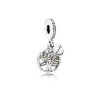 Wholesale pandora dangle girl charm - Crystal Drop Dangle Pendants Fit Charms Bracelet Wholesale Designs for Girls Mom Dad Beads Fit Pandora Bracelets Spacer Family Tree of Life