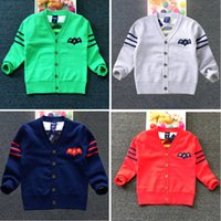 Wholesale Childrens Sweater Jackets - 2016 New Autumn Children Cartoon Superman Cardigan Boys Girls Knitted Double Jacket Long Sleeve Sweater Childrens Cardigan Outwear