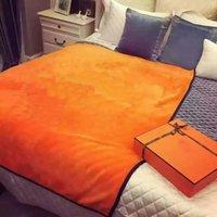 Wholesale Blanket Custom - 2018 brand new orange flannel fleece throw blanket 130 x 150 cm custom logo orange shawl airplane sofa snap blanket