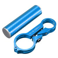 Wholesale Aluminium Handle Bar - Blue Aluminium Alloy Carbon Fiber High Quality Bike Bicycle Handle Bar Extender Lamp Flashlight Bracket Holder order<$18no track