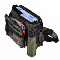 New Canvas grande capacité de pêche Sacs Waist Pack Lure Box Combinaison 5 set 1 Camouflage Imperméable Chocolate Bag Color