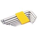 Wholesale Allen Key Set Ball - A Set 7 pcs RHINO RI-760 Hex Key Repair Tools Powerful Type Allen Wrench High Carbon Steel Middle Ball H