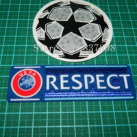 Wholesale Champion League respect ucl Soccer patch badge Cashmere material velvet