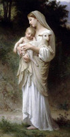 Wholesale Painting Jesus Christ - Framed MADONNA & CHRIST JESUS & SHEEP,Pure Handpainted Figure Portrait Art Oil Painting On Quality Canvas Multi Sizes Free Shipping