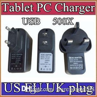 Wholesale Tablet Pc For 48 - 500X EU US UK Plug Universal USB Charger AC Power Adapter for Tablet PC Cellphone 5V 2A C-PD