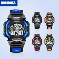Wholesale Colourful Men - Kids Watches Luxury Brand Men Watches Sports Watches Colourful Touch LED Watch Waterproof Electronic Watch Halloween Christmas Gifts 187