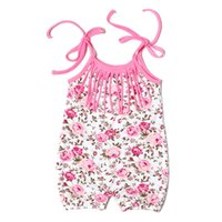 Wholesale posh clothing - Posh Vintage Floral Baby Bubble Romper ,Pink Floral Baby Girls outfit ,Tassel Newborn Romper ,Sleeveless baby clothes