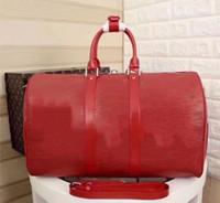 Wholesale leather gym bag duffle - Top Quality Designer Letter Handbag Waterproof PU Casual Large Tote Leisure Durable Travel Crossbody Bag Gym Shoulder Bag Luggage Duffle