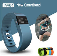 Wholesale TW64 Smartband Smart bracelet Wristband with New OLED Screen Fitness tracker Bluetooth fitbit flex Watch for ios android xiaomi mi band
