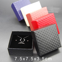 Wholesale Wholesale Cheap Earrings Free Shipping - Wholesale Jewelry Cases Display Cardboard Necklace Earrings Ring Bracelet Box Sets Packaging Cheap Sale Gift Box with Sponge Free Shipping