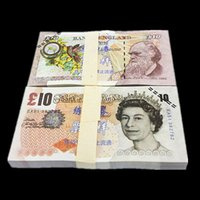 Wholesale Uk Money - 100PCS UK Pound GDP £10 Movie Props Money Bank Staff Training Collect Learning Banknotes New Arts Collectible Gifts Home Decoration Crafts