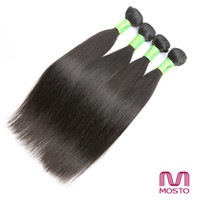 Wholesale 4pc 22 18 - 4pc Peruvian Hair Bundles 12-30inches Human Hair Full Head Brazilian Malaysian Hair Color 1B Straight Human Hair Weaves