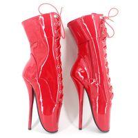 botas de reina al por mayor-Envío gratis DHL Hot Sexy SM Ballet Heel tobillo botas para mujeres / hombres personalizados con cordones etapa de baile botas Dropship sexy reina BLB-230-14
