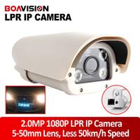 Wholesale Cctv Cameras Cars - 1080P Toll-gate Highway Car Bus LPR Vehicle License Plate Capture Reader Identification Recognition CCTV IP Camera White Light Leds