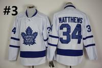Wholesale Maple Leaf Silk - Top Quality ! 2016 New Men Toronto Maple Leafs Ice Hockey Jerseys Cheap #34 Auston Matthews blue white Jersey Authentic Stitched Jerseys