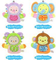 porco azul dos desenhos animados venda por atacado-Desenhos animados do porco roxo / elefante azul / verde ovelhas / macaco / confortáveis luvas de banho tecido de toalha esfregue toalhas Cuozao