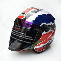 Wholesale Helmet Double D - New ARAI New motorcycle helmet racing helmet cross country half helmet men and women sunscreen helmets (double D ring)