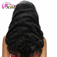 Wholesale Chinese Wig Hair - XBL Silky Straight Human Hair Wigs For Black Women Body Wave Full Lace Wigs And Lace Front Wigs 8-24 Inch Accept
