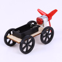 ABS Plastic Assemble DIY Wind-up Toy Car Kids Construção de madeira Bolck Technology Educational Wind Powered Intellectual Auto Toys