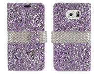 Wholesale Diamond Galaxy Case - Hybrid Bling Rhinestone Diamond Wallet Cover Case Credit Card Slot for Samsung Galaxy S8 Plus S8 On5 S7 Plus J3 Prime Motorola Moto E4