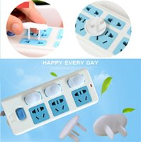 Wholesale Safety Sockets - Little baby anti-electric shock Socket cover Child Safety Socket protective cover household Socket protection tool IA820