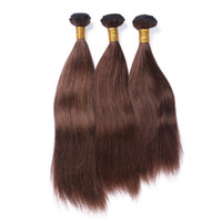 Wholesale chocolate hair weave 16 inch for sale - Group buy Chocolate Brown Virgin Brazilian Human Hair Extensions Silky Straight Virgin remy Hair Weaves Medium Brown Human Hair Bundles