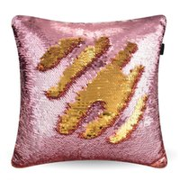 Wholesale Hospital Setting - 2017 Factory direct sales bursts of two-color sequins pillow sets of beads tablets embroidered fish scales pillow European sets Pillow Case
