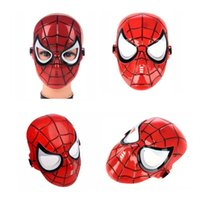 Wholesale Cool Cartoon Face Masks - Cool Cartoon Hero Plastic Face Masks Red Black Golden Masquerade Mask Children Cosply Party Accessories