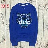 Wholesale Ladies Sweatshirts - KEVZO embroider KENZO00 tiger herd fleeces Sweater Fashion Men Woen o-neck Hoody Sweatshirt Women Hoodies lady Hoodies Europe American