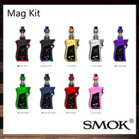 Wholesale Blue Fire Design - Smok Mag Kit 225W Mag TC Mod Unique Lock-n-load Design Exquisite Trigger-like Fire Key 8ml TFV12 Prince Tank 100% Original
