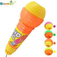 Wholesale kids mic - Hot Echo Microphone Mic Voice Changer Gift Birthday Present Kids Party Song Mikrofon microfono microfone Play OT25