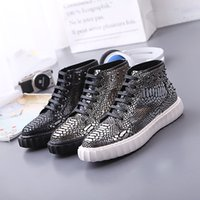 Wholesale High Boots Europe - Europe luxury boots shoes hot stylist Martin men shoes sneakers fashion martin boots chunky high shoes