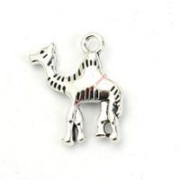 Wholesale Camel Silver Charms - 20pcs Antique Silver Plated Camel Charms Pendants for Bracelet Jewelry Making DIY Necklace Craft 22X19mm