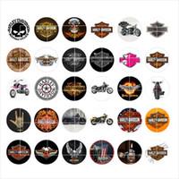 armband bezaubert motorrad großhandel-Freier Verschiffenpunkmotorradschnappknopfschmuck-Charme popper für Schmucksachen des Armbandes 30pcs / lot GL026
