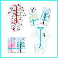 Wholesale Girls Pajamas Velvet - Newborn Girls' Boys One Piece Footed Pajamas Cotton underwear children's wear