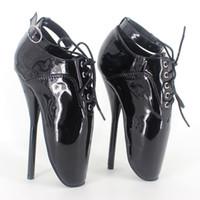 bale toptan satış-SM Kraliçe Bale Topuklar Spike Yüksek Topuk Seksi Ayak Bileği Pompaları Sahne Gösterir Dantel-up Boyutu 36-46 Unisex Özelleştirilmiş Renkler Ücretsiz Kargo DHL BLB-142