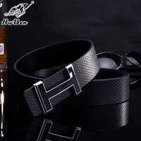 Wholesale Luxury Belts Brands - brand designer Fashion Mens Business Belts Luxury Ceinture Smooth buckle Genuine Leather Belts For Men women Waist Belt Free Ship