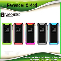 Wholesale Vape Screens - Original Vaporesso Revenger X TC Mod 220W Box Mod fit NRG Tank 5ML NRG Mini 2ML Tank Touch Screen Button Vape Ecig Mods 100% Authentic