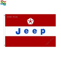 Wholesale Outdoor Jeep - GoodFlag Free Shipping jeep red flag banner 3X5 FT 90*150CM Polyster Outdoor Flag