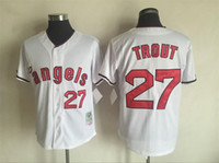 Wholesale New Jersey Yankees - New 1951 Yankees Mickey Mantle Throwback Jersey #34 fingers #27 trout Home Stitched Baseball Jerseys Size 40-56 Mix Order All Jerseys