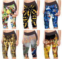 Women Tight Sports Capri Pantalons 3D Print Bottom Leggings Jogging Yoga Cropped Alice au pays des merveilles Beauté et bête Egyptian PharaohLN7Slgs