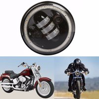 1pcs 5.75inch 50W 5000LM 3000LM High Low Beam com Halo Angle Eye LED Headlight para Harley Davidson Motorcycle