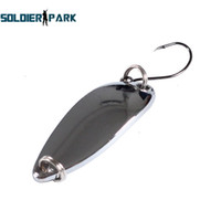 10pcs / lot Angeln Köder Tackle Stream Single Haken Löffel Spinner Köder Fischen Zubehör Unterwasser Mini Metall Angeln Lure Silber Bestellung $ 18no