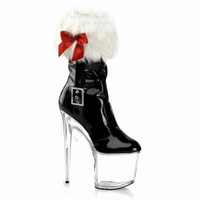 Wholesale Thin Black Tube - Manufacturers selling 2016 new 20 cm high heel waterproof platform heels, low artificial leather, tube short boots boots